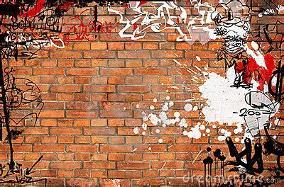 graffiti brick wall royalty  stock images image