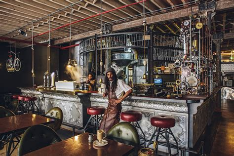 inside a steunk coffee shop in cape town south africa colossal