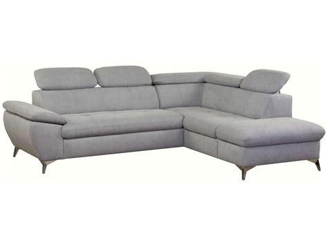 canap 233 d angle convertible droit 4 places en tissu ally coloris gris clair vente de salon de
