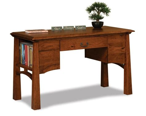 Office Desk Real Wood by Amish Mission Artesa Library Table Laptop Desk Solid Wood