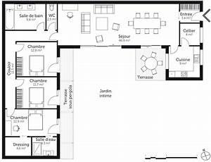 Plan Maison U : plan maison 130 m en u ooreka ~ Dallasstarsshop.com Idées de Décoration