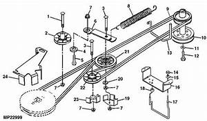 solved mower deck belt diagram fixya With 16 hp hydro drive tractor series f parts diagrams for 42quot cutting deck
