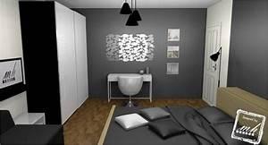 deco chambre adulte blanc et gris With photo deco terrasse exterieur 4 deco salon gris blanc rose