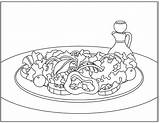 Salad Coloring Clipart 1027 sketch template