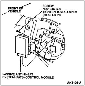 ford passive anti theft system pats autorepairpitcom
