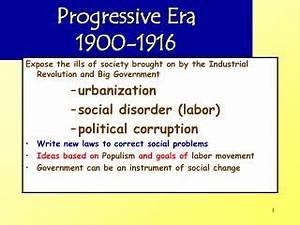 PPT - The Progressive Era: 1900 - 1920 PowerPoint ...