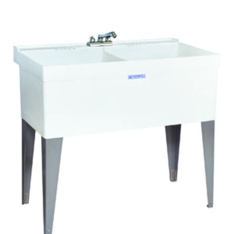 double sink laundry tub mustee utilatwin 24 in x 40 in x 33 in thermoplastic