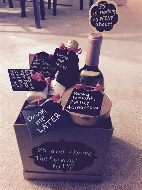 25th Birthday Gift Basket!  Gifts Galore  25th Birthday Gifts, 30th Birthday Gifts, 21st