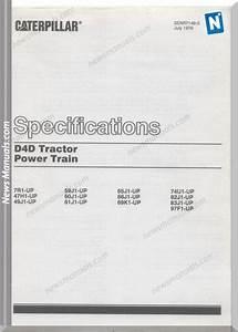 Caterpillar D4d Powertrain Senr7148 Wiring Diagram