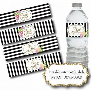 water bottle label printable baby shower water bottle With black and white water bottle labels