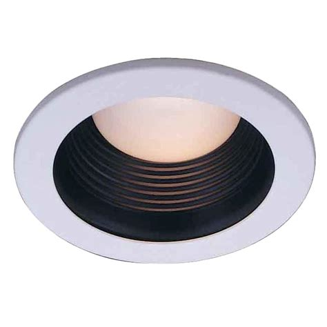 home depot recessed lighting trim commercial electric 4 in black recessed baffle trim