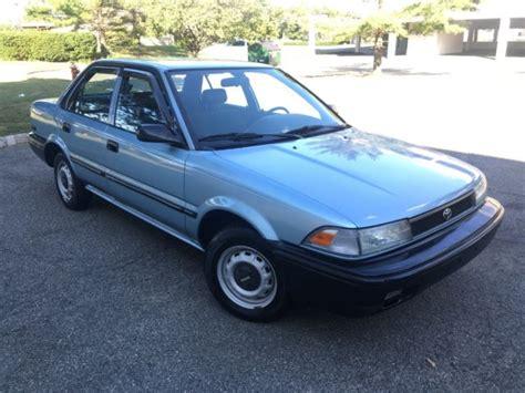 car owners manuals for sale 1992 toyota corolla seat position control toyota corolla sedan 1992 light blue for sale 2t1ae91a3nc189340 92 toyota corolla only 45 000