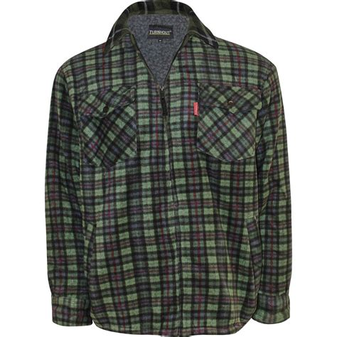 mens fur sherpa lined fleece thick heavy lumberjack work jacket shirt check warm ebay