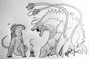 My Godzilla size comparison to my Biollante by ...