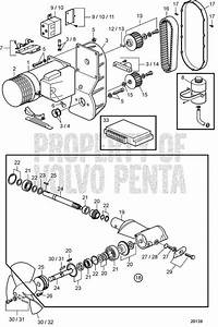 Volvo Penta Exploded View    Schematic Bp800