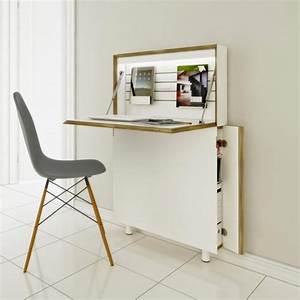 Meuble Pour Bureau : le bureau pliable est fait pour faciliter votre vie ~ Teatrodelosmanantiales.com Idées de Décoration