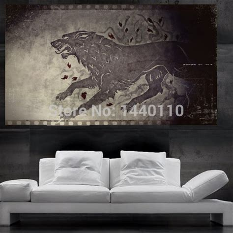 of thrones wall of thrones stark direwolf sigil poster print wall 10