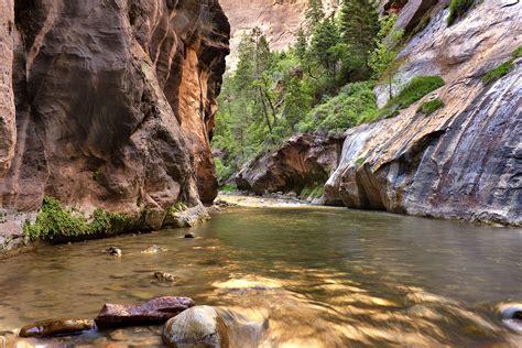 rock, River, Trees, Landscape Wallpapers HD / Desktop and ...