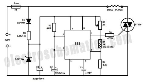 Temperature Controller Circuit Schematic Electronic