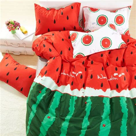 cheerful fruit print bedding sets  summer shelterness