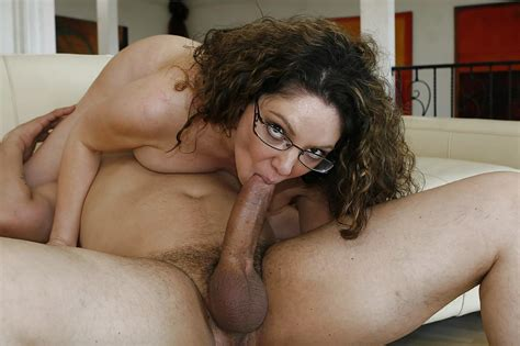 Curly Haired Milf In Glasses Gets Fucked Hard And Jizzed