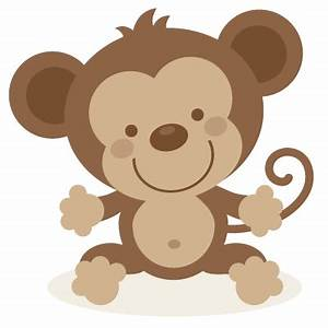 Cute monkey SVG file and clipart | SVG PPbN Designs ...