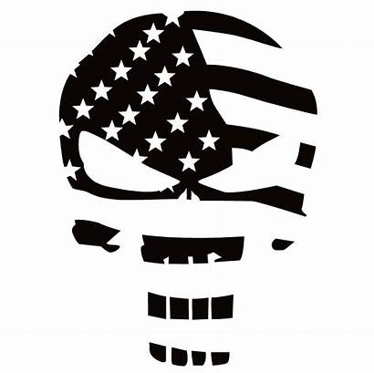 Punisher Skull Flag Decal Usa Sticker American