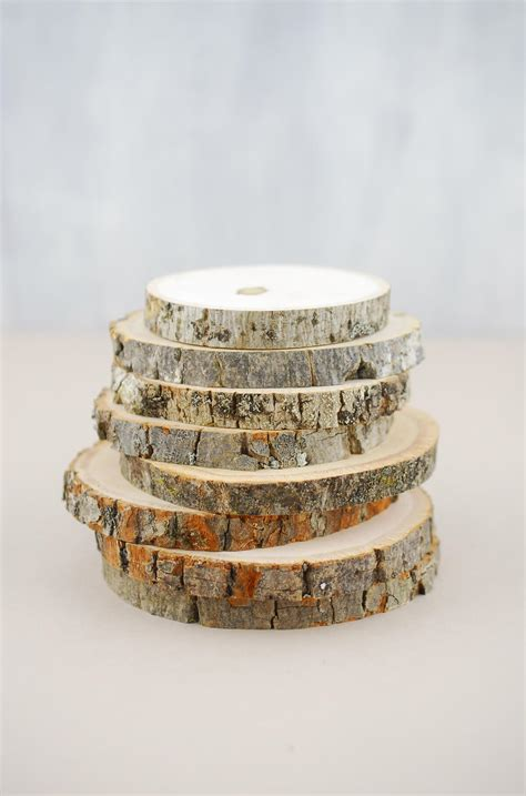 natural wood rounds