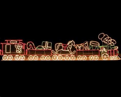 outdoor decoration  rope light train