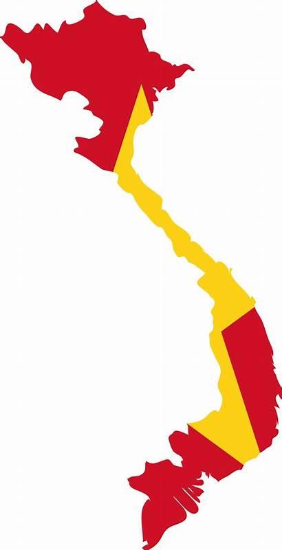 Vietnam Flag Map Svg South Vector North