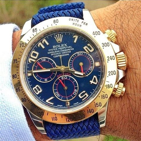 Rolex Daytona on a 🔷 blue perlon strap from @whatchsdotcom ...