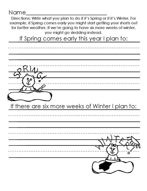 the of teaching a kindergarten groundhog day