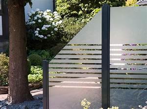 Windschutz Terrasse Glas Beweglich : modern und elegant grojaambiente glas sichtschutz in streifen mit klemmschienenbefestigung in ~ A.2002-acura-tl-radio.info Haus und Dekorationen
