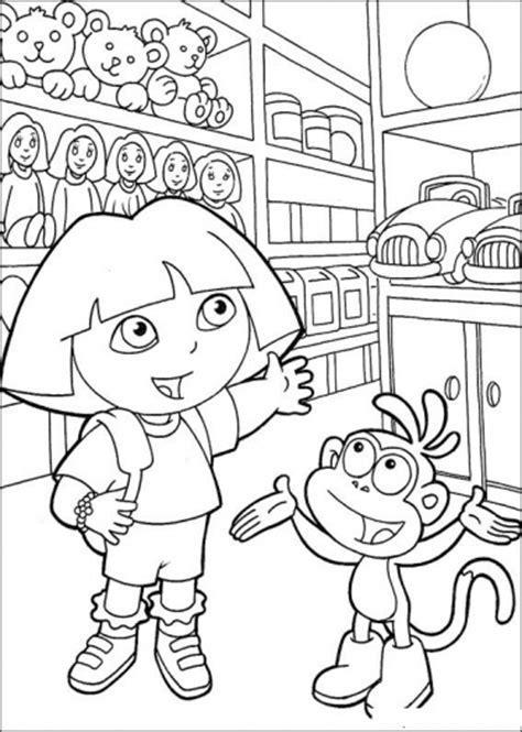 dora  explorer coloring pages  coloring pages