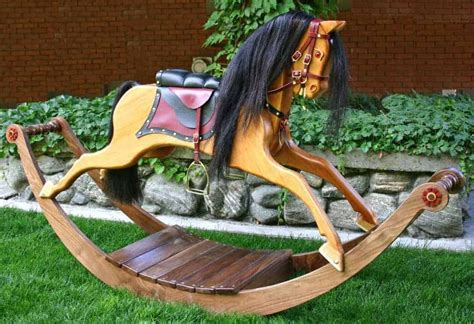 victorian rocking horse woodworking plan forest street