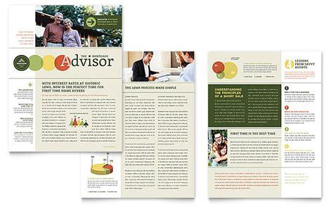 mortgage broker newsletter template word publisher