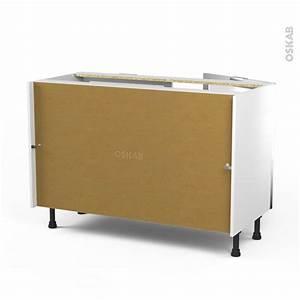 meuble de cuisine bas vitre facade noire alu 2 portes l120 With meuble cuisine bas 120 cm 12 meuble porte vitree cuisine prix et produits avec le