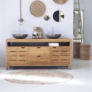 Bathroom furniture - Serena XL teak washstand - Tikamoon