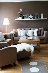 Wandfarbe Für Wohnzimmer : wohnzimmer modern einrichten wandfarbe braun wei e akzente wohnzimmer pinterest wohnzimmer ~ One.caynefoto.club Haus und Dekorationen