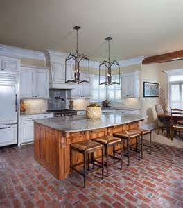 brick floor kitchen farmhouse with table resistant