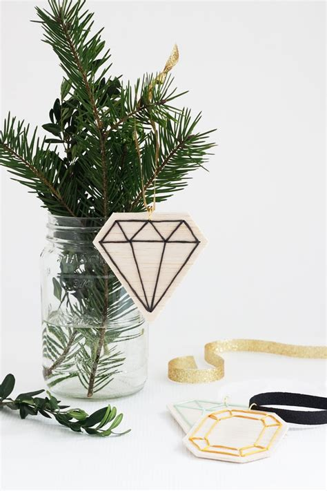 diy faceted gemstone ornaments   idle hands awake