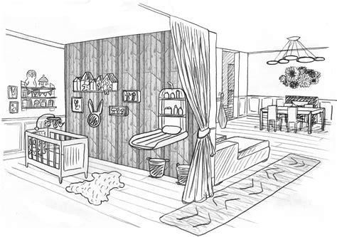 dessin d une chambre 1 chambre bébé dans un salon laetitia desmond