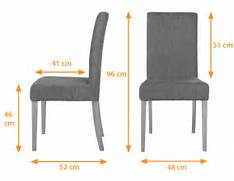 Dining Table Chair Measurements by Gallery For Dining Table Chair Dimensions