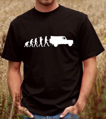 evolution of land rover unisex t shirt