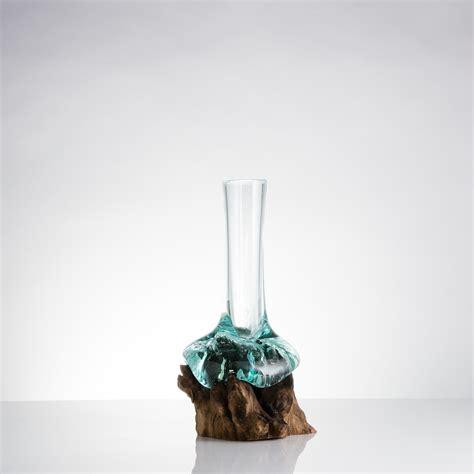 glass bowl   teak root