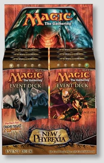 magic the gathering new phyrexia event deck box da card