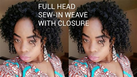 Full Head Sew-in Weave With Closure(no Leave Out