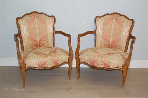 Pair Of French Antique Low Armchairs