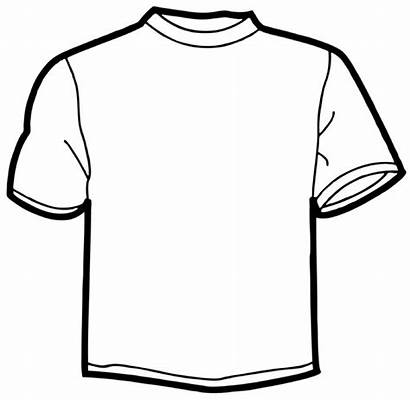 Shirt Coloring Drawing Clipart Template Blank Cliparts