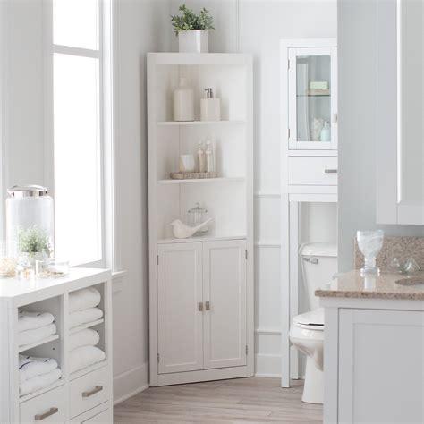Corner Bathroom Storage Cabinets by Belham Living Longbourn Corner Linen Cabinet Linen